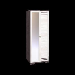 Бриз 12 Шкаф для одежды + ФАСАД Зеркало + Стандарт (Ост.)